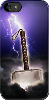 Mjölnir Hammer (iPhone case) by ikado