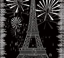 Grunge Eiffel tower by Marishkayu