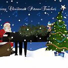 Merry Christmas To Piano Teacher by Moonlake