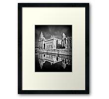 The Liver Building Framed Print
