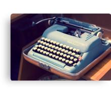 Vintage Baby Blue Typewriter Canvas Print