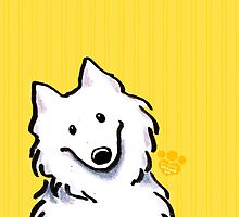 Samoyed Sunshine Stripes by offleashart
