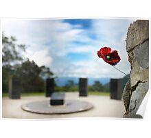 Poppy at Isurava Memorial  Poster