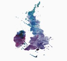 UK map in Watercolours by Anastasiia Kucherenko