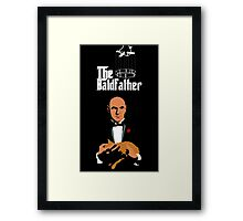 the bald father Framed Print