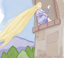 Rapunzel and the window by thesnuttch