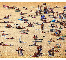 beach scene by christophrm