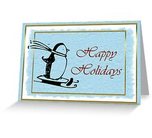 Happy holidays Christmas card with penguin Greeting Card