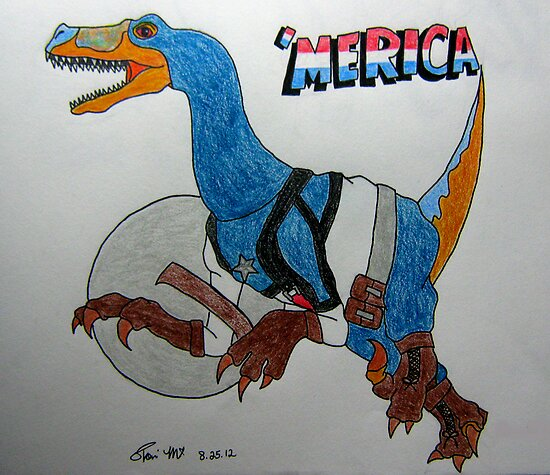 Captain Velociraptor  by meow-or-never10