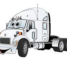 Semi Truck Cab White by Graphxpro