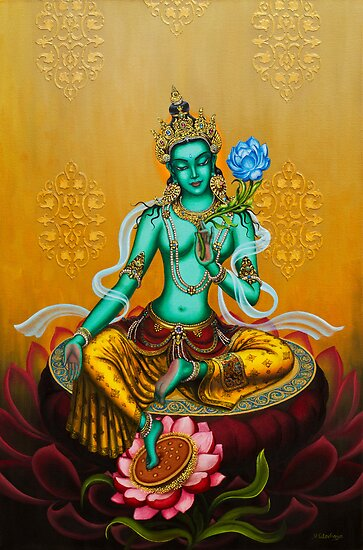 Green Tara by Yuliya Glavnaya