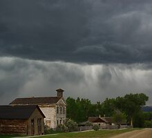 Storm on Bannack, Montana by Claudio Del Luongo