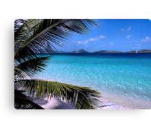 Soloman Beach Morning - St. John Canvas Print