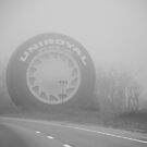 Foggy Uniroyal Tire... by Malena Fryar
