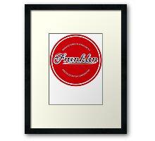 Franklin Engine Company Logo Framed Print