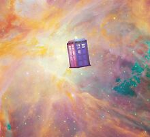 Flying TARDIS in the Universe. by Cicciopalla