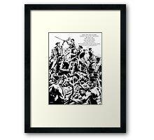 Jawbone Hill Framed Print