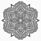 Mandala 54 Monochrome by mandala-jim