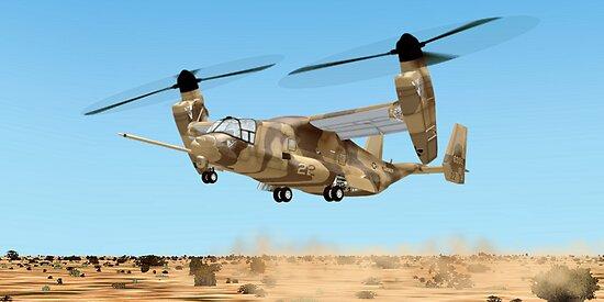 U.S. Marine Corps Osprey by Walter Colvin