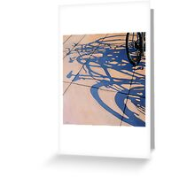 The Gathering - bicycle art oil painting Greeting Card
