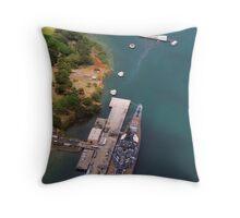 USS Arizona and USS Missouri Throw Pillow