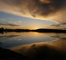 still water sunset series at Lewisham  by Christine Lovell