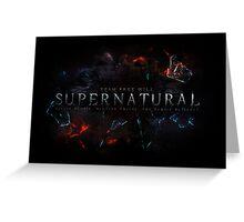 Supernatural Greeting Card