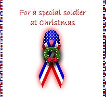 Merry Christmas card for soldier by Cheryl Hall