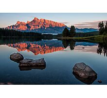 Lake Minnewanka Sunrise Photographic Print
