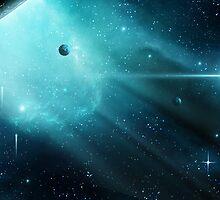 Aqua Nebula by charmedy