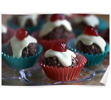 Cherry & Chocolate Cupcakes Poster
