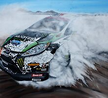 Ken Block Gymkhana Ford Fiesta by iconic-arts
