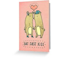 Dat First Kiss Greeting Card