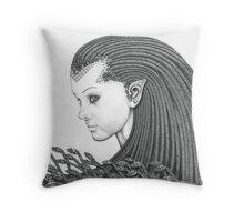 Euryale - Gorgon with Garter Snakes for hair Throw Pillow