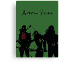 The Arrowfam in Young Justice Canvas Print