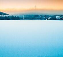 Frozen Lake Jyväsjärvi by MikkoSuhonen