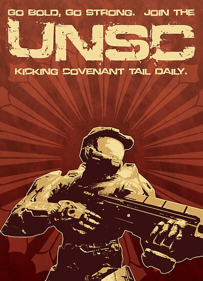 Halo 4 UNSC Poster (Going Bold) by halljl
