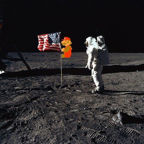 Super Mario On the Moon by Simon Alenius