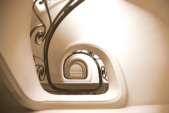 staircase - central mercure Lille 2 by mike parker