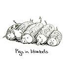 Pigs in Blankets mono by Jennifer Kilgour