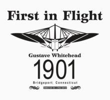 Whitehead Design #2 (Black)  by warbirdwear