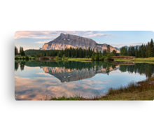 Rundle Mountain Reflection Canvas Print