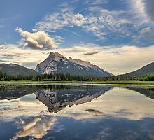 Vermilion Lakes Side Road by James Wheeler