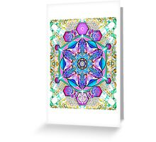 Om-Adjna 'dubstep' mandala Greeting Card