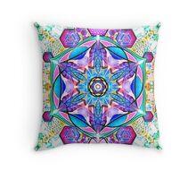 Om-Adjna 'dubstep' mandala Throw Pillow