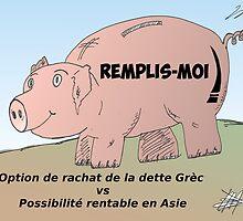 Affaires Tirelire en caricature by Binary-Options