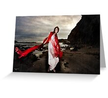 A dance of the blude red veil Greeting Card