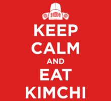 Keep Calm and Eat Kimchi Kids Clothes
