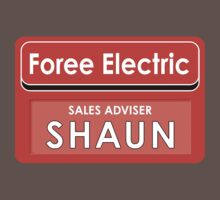 Shaun Foree electric tag name by superedu