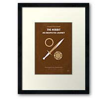 No166 My The Hobbit minimal movie poster Framed Print